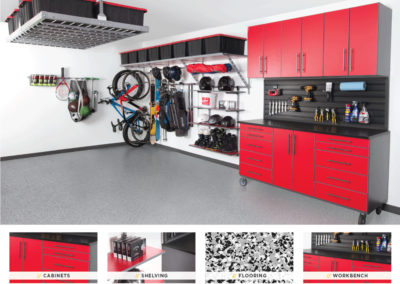 Garage Organization | Inspired Spaces | Red Design