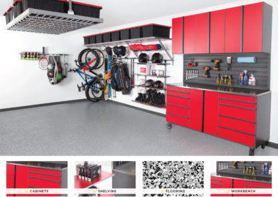 Garage Organization | Inspired Spaces | Red Design 2