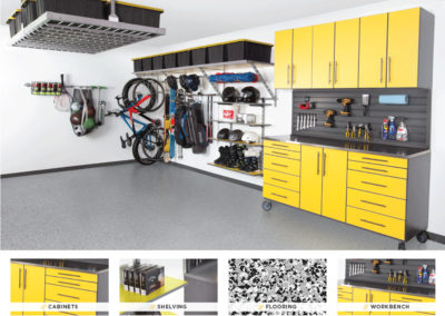 Garage Organization | Inspired Spaces | Yellow Design