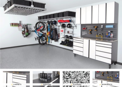 Garage Organization | Inspired Spaces | White Design