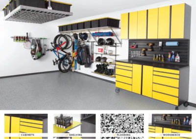 Garage Organization | Inspired Spaces | Yellow Design 2