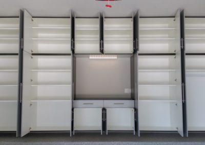 Garage Solutions | Garage Cabinets | White Wall Open
