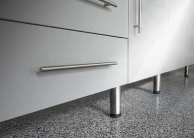 Garage Solutions | Garage Cabinets | Stainless Steel Pulls